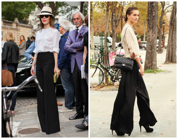 Wide-leg pants for women's work outfit | WorkChic