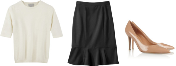 how to wear peplum skirt