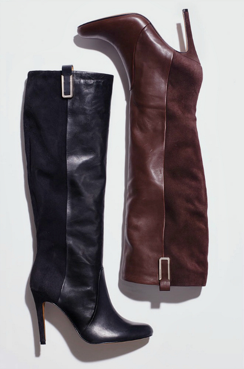 suede leather knee high boots