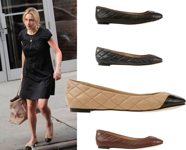 Cap-toe leather flats