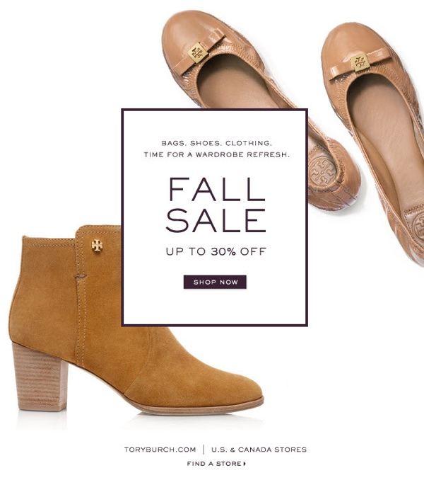 Tory Burch Fall sale