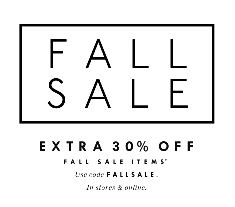 Fall Sales – Hurry as some end soon!