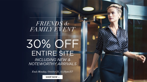Jones New York 30% off sale