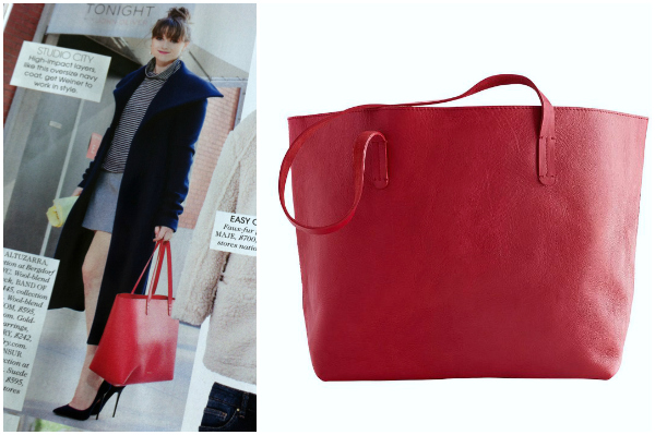 Red leather tote | WorkChic
