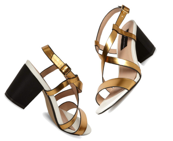 Budget Finds – Gold Strap Block Heels