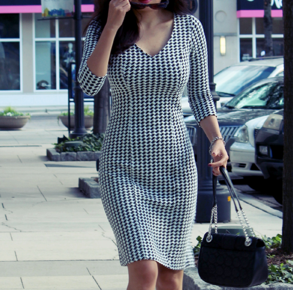 The Ultimate Houndstooth Dress
