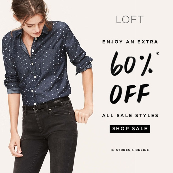 LOFT 60% off sale ends soon