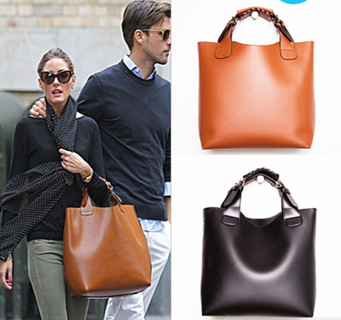 Olivia Palermo Brown tote bag - get the look