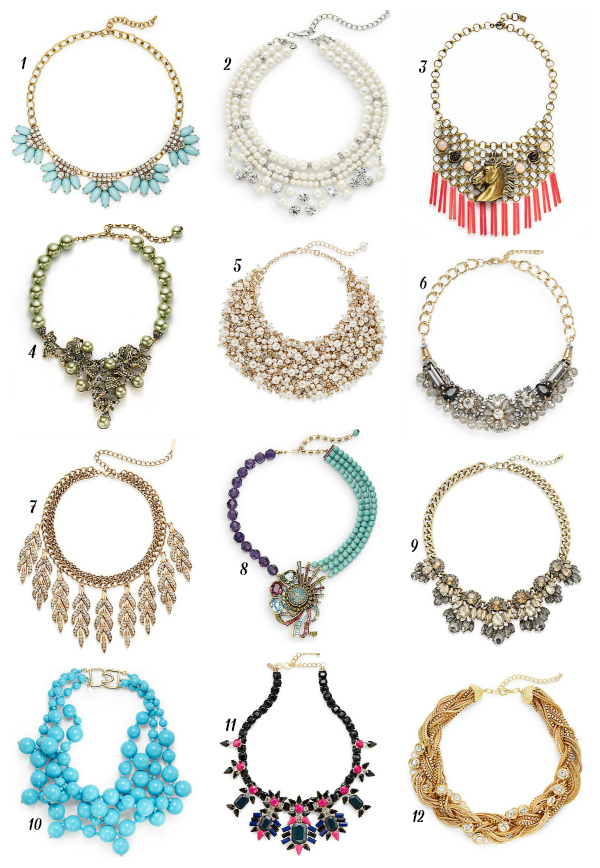 statement bib necklaces