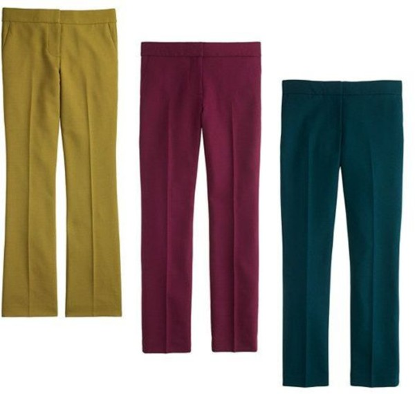wool ankle pants