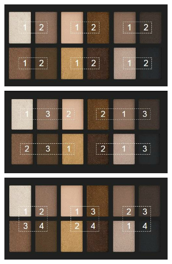 earth tone eyeshadows