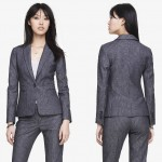 Navy Gray Striped Suit