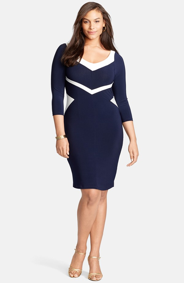 Plus Size Office Sheath Dress Workchic