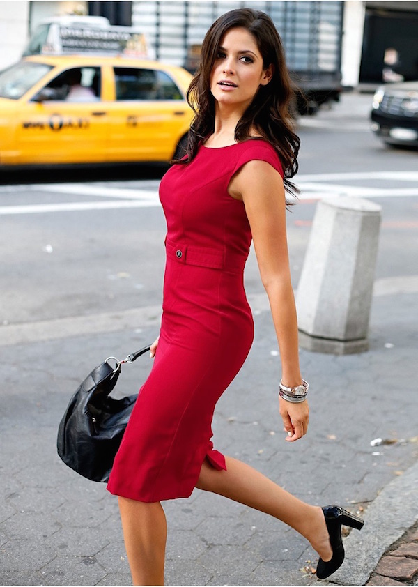 0f9d22558c0b Red Sheath Dresses for Work