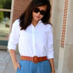 white button shirt outfit