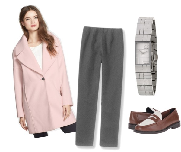 coat and pants work outfit