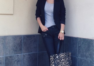 skinny jeans casual work outfit