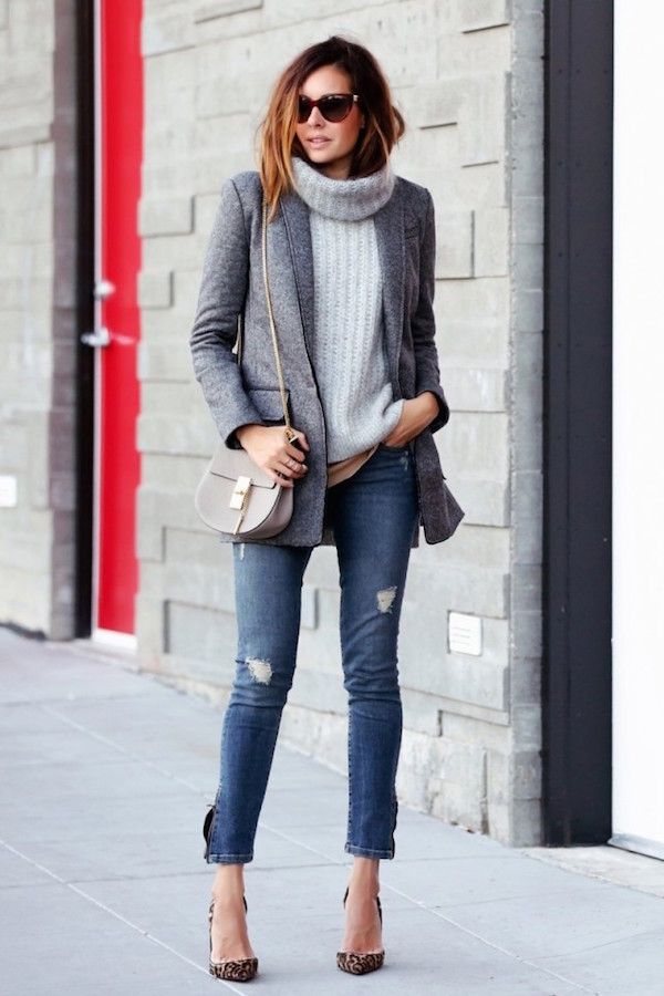 sweater jeans outfit ideas