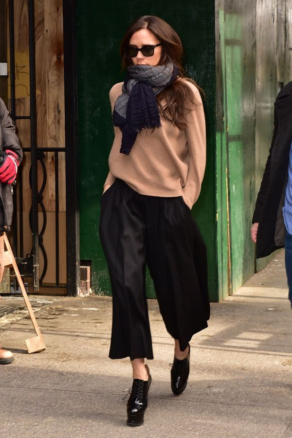 sweater culottes outfit