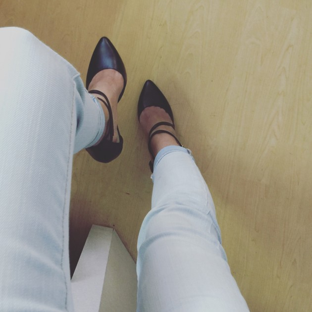 Stylish & Walkable Black Heels for the Office