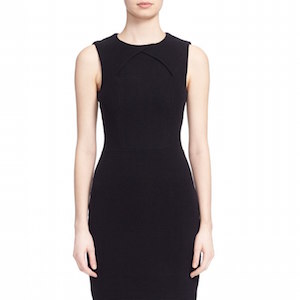 black midi shift dress
