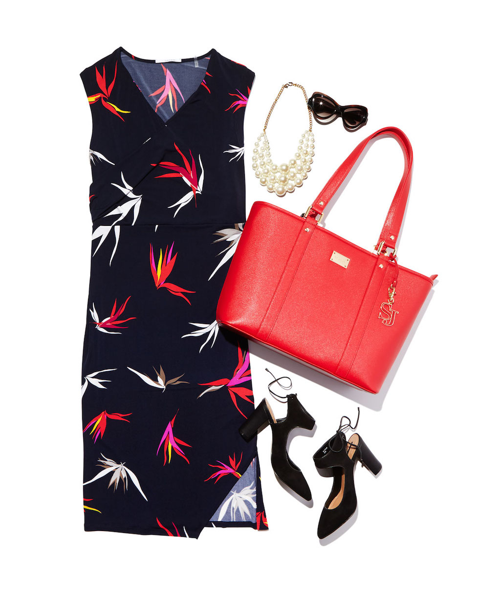 print dress work outfit
