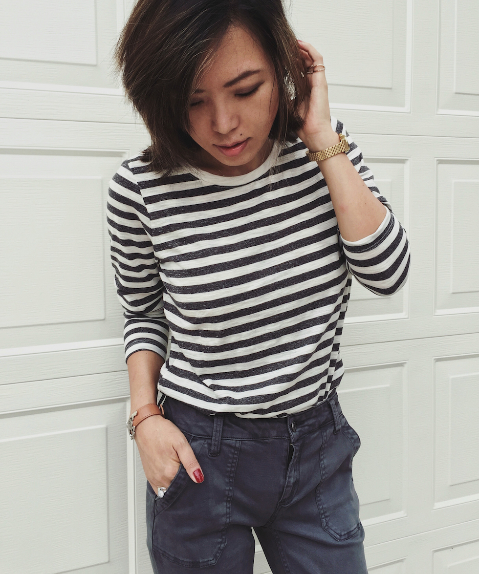 how to style stripe shirt