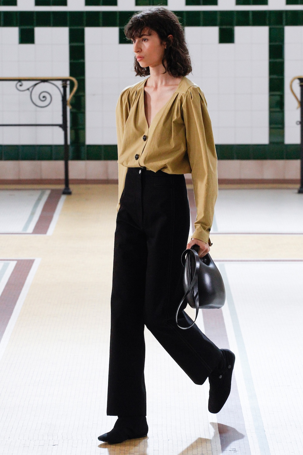 blouse and trouser work outfit