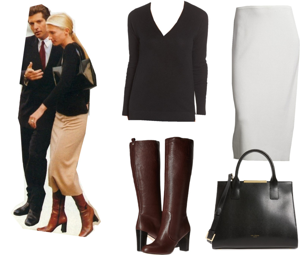 carolyn bessette kennedy outfit