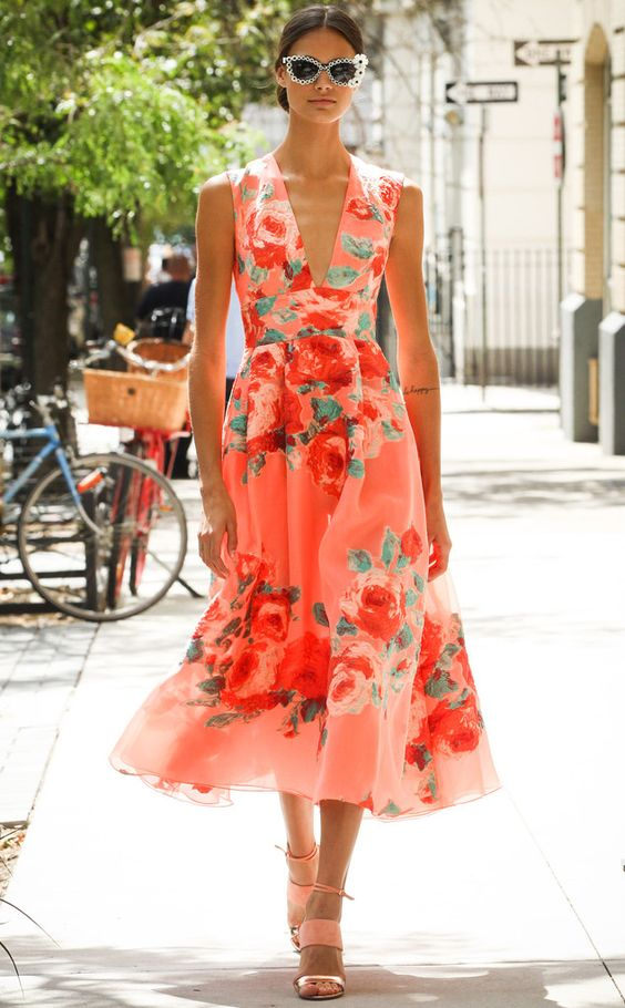 summer floral dress outfit