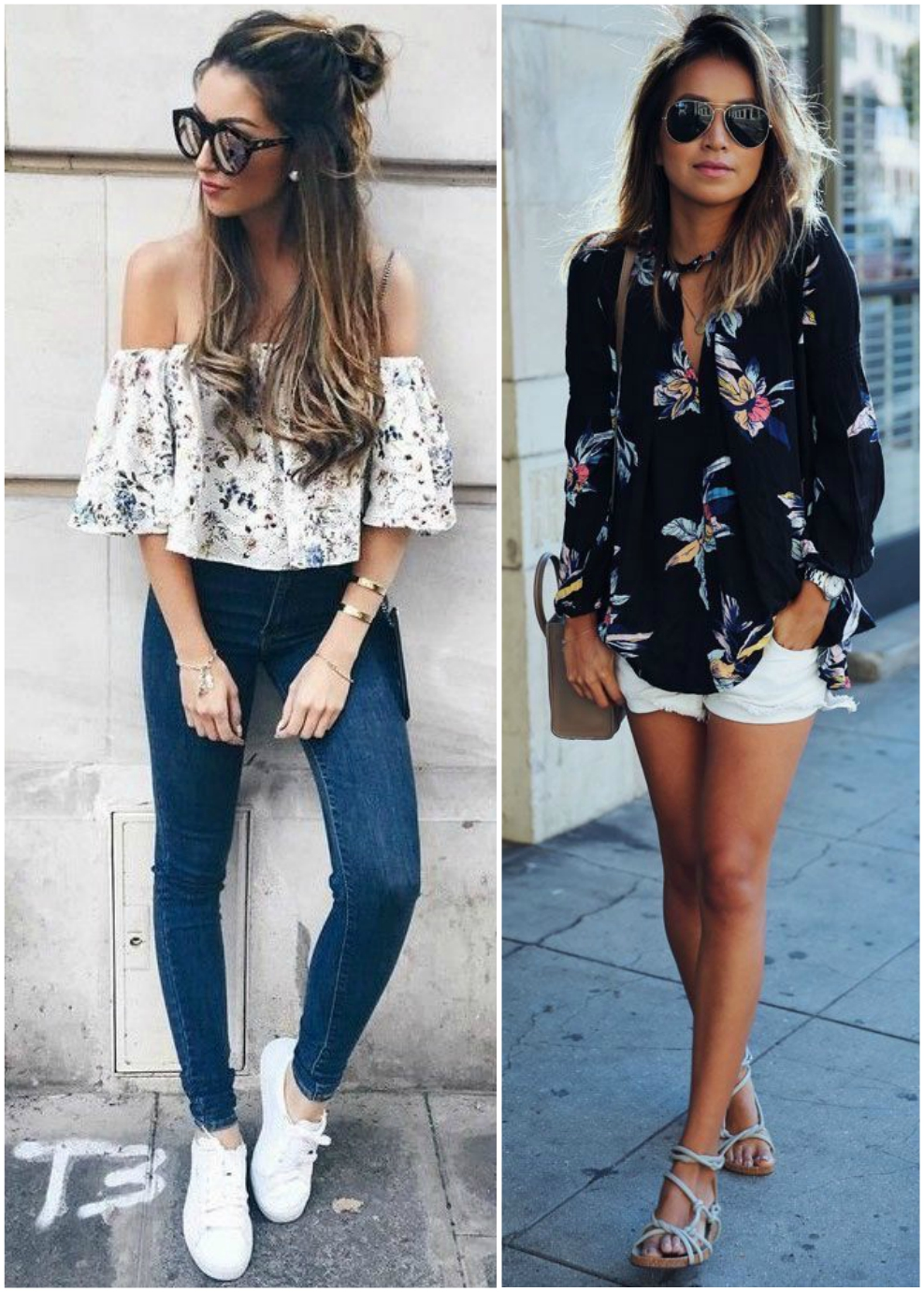 how to style floral tops