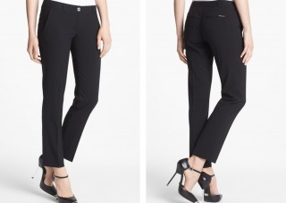 black ankle trousers office