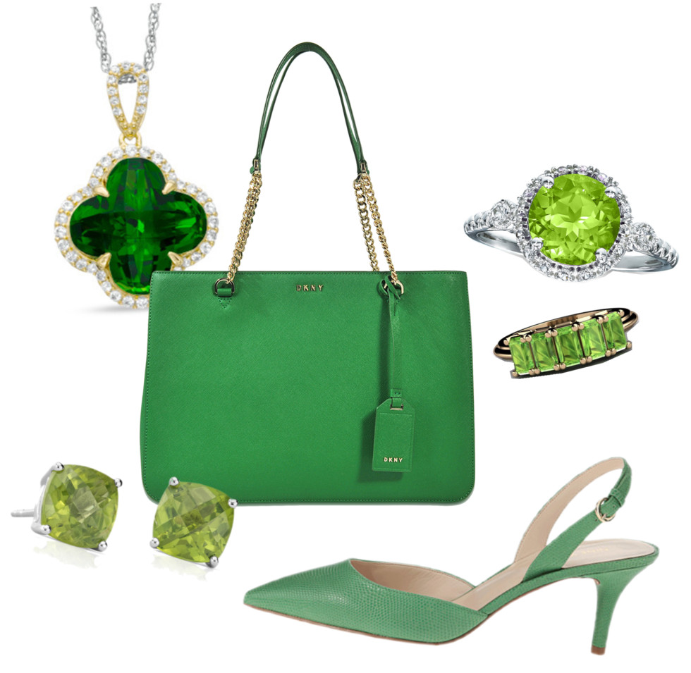green fashion jewelry accessories