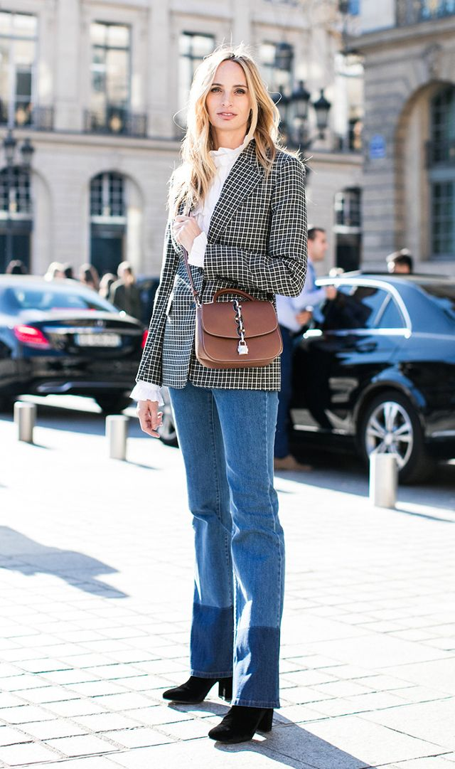 blazer jeans boots outfit