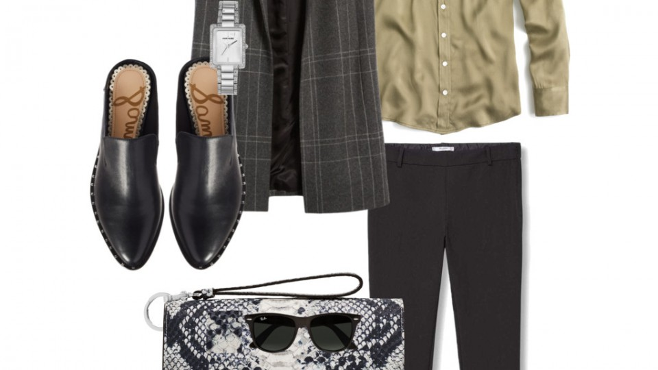 Stylish & Practical Transitional Outfit for Work