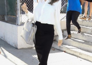white shirt black skirt outfit