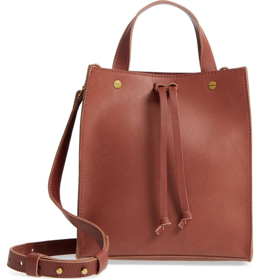 tan crossbody tote