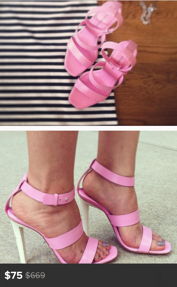 costume national pink heels under $100