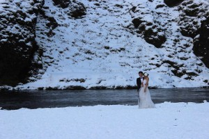 winter theme wedding