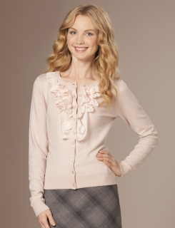 Layered Ruffle Cardigan