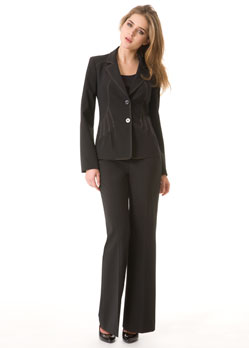 Two Piece Pant Suit - Onyx