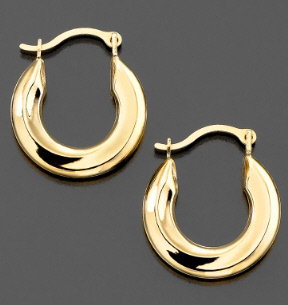 Tube Gold Hoop Earrings