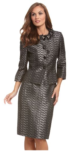Tahari 3/4 Sleeve Skirted Suit