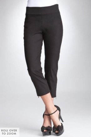 Zip Capri Pants