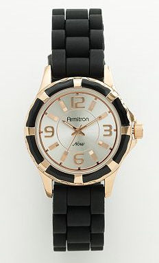 Rose Gold Silicone Watch