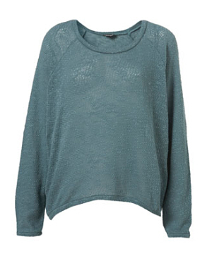 Slubby Knit Sweatshirt